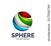 vector sphere abstract logo... | Shutterstock .eps vector #517036744