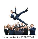 businessman get thrown into the ...   Shutterstock . vector #517037041