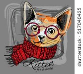 Vector Cat With Glasses In A...