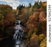 Falls Of Clyde Waterfall In...