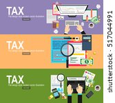 tax payment concept. state... | Shutterstock .eps vector #517044991