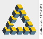 big penrose triangle... | Shutterstock .eps vector #517045819