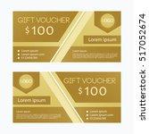 brown gift voucher  | Shutterstock .eps vector #517052674