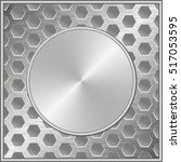 metal background with round... | Shutterstock .eps vector #517053595
