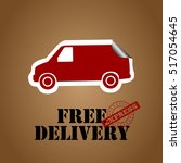 free delivery box with a car... | Shutterstock .eps vector #517054645