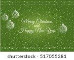merry christmas card. vector... | Shutterstock .eps vector #517055281