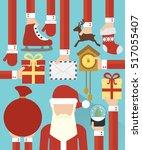 happy new year concept  flat...   Shutterstock .eps vector #517055407