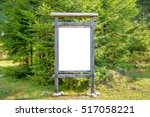 White Blank Sign Board In The...