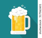 vector beer with long shadow  ... | Shutterstock .eps vector #517062601