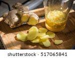 details of honey and ginger...   Shutterstock . vector #517065841