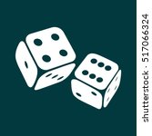 dice icon. two game dices ... | Shutterstock .eps vector #517066324