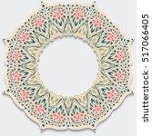 vintage flower frame mandala... | Shutterstock . vector #517066405