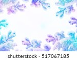 winter. snow covered trees....   Shutterstock . vector #517067185