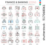 vector finance and banking... | Shutterstock .eps vector #517068061