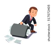 businessman dragging huge heavy ... | Shutterstock .eps vector #517072405