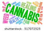 cannabis word cloud on a white... | Shutterstock .eps vector #517072525