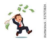 businessman trying to catch... | Shutterstock .eps vector #517073824