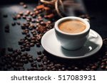 Fresh tasty espresso cup of hot ...