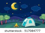 cartoonish illustration of a... | Shutterstock .eps vector #517084777