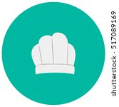chef hat cute icon in trendy...