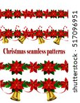 set of n seamless christmas... | Shutterstock .eps vector #517096951