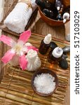 composition of bath spa... | Shutterstock . vector #517103029