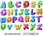 font design with english... | Shutterstock .eps vector #517108219