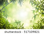 leaf pattern leaves bamboo or... | Shutterstock . vector #517109821