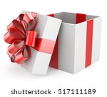 open gift box with bows.... | Shutterstock . vector #517111189