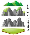 three types of mountains ... | Shutterstock .eps vector #517112701
