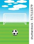 vector illustration of soccer... | Shutterstock .eps vector #517113379