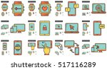 mobility vector line icon set...   Shutterstock .eps vector #517116289