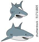 great white sharks | Shutterstock .eps vector #51711805