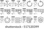 content edition vector line... | Shutterstock .eps vector #517120399