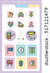 icon set traffic vector | Shutterstock .eps vector #517121479