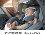 asian cute newborn baby... | Shutterstock . vector #517122421