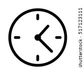 simple clock face  clockface or ... | Shutterstock .eps vector #517123111