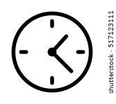 simple clock face  clockface or ... | Shutterstock .eps vector #517123111