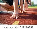 Runners Preparing For Race At...