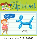 Flashcard Letter D Is For Dog...