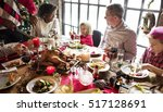 family together christmas... | Shutterstock . vector #517128691