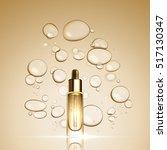3d gold serum  essence oil... | Shutterstock .eps vector #517130347