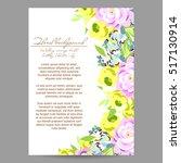 vintage delicate invitation... | Shutterstock .eps vector #517130914