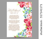 vintage delicate invitation... | Shutterstock .eps vector #517141171
