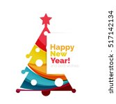 2017 christmas and new year...   Shutterstock .eps vector #517142134