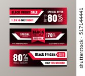 black friday sale web banners | Shutterstock .eps vector #517144441
