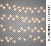 christmas garlands isolation on ... | Shutterstock .eps vector #517144864