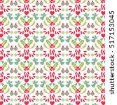 vector christmas pattern | Shutterstock .eps vector #517153045