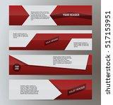set design elements business... | Shutterstock .eps vector #517153951
