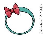 cute female headband icon | Shutterstock .eps vector #517158175